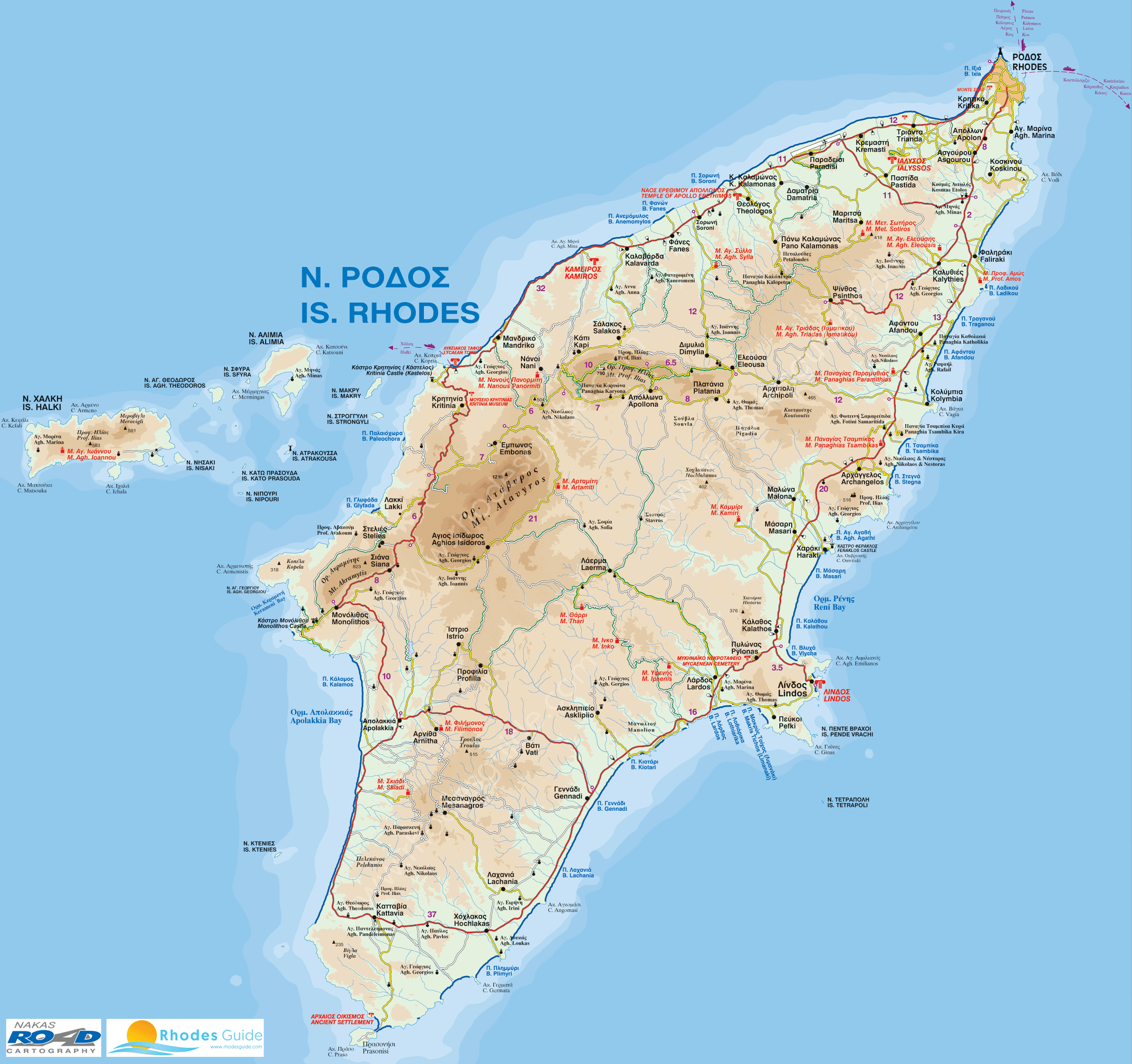 map of rhodes greece island Map Of Rhodes Island Greece Rhodesguide Com map of rhodes greece island