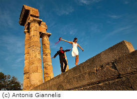 Acropolis of Rhodes Wedding Photography Location (c) Antonis Giannelis