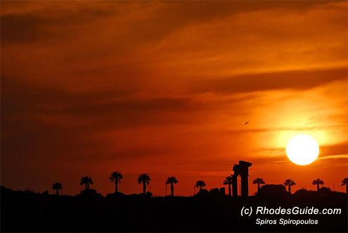 Rhodes Acropolis, Sunset