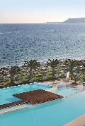 "Rhodes Greece Hotels, The Ixian Grand: The Ixian Grand is a prestigious member of Great Hotels of the World organization and is just few minutes away from the World Heritage Monument, protected by UNESCO, ""The Medieval City of Rhodes"" and the Mount Filerimos with its breathtaking panoramic views."