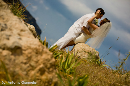 Top locations for wedding photos on Rhodes Island