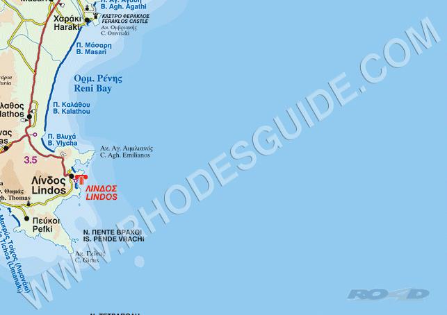 Rhodes Island Greece Map.Rhodes Greece Rhodos Rodos Map
