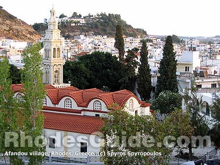 Afandou Village, Rhodes, Greece.