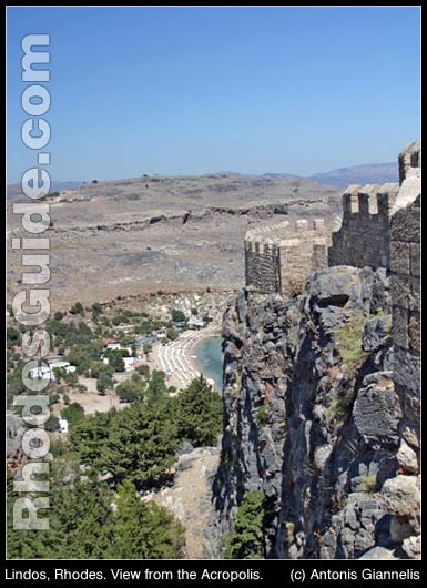 Lindos, Rhodes. View from the Acropolis.