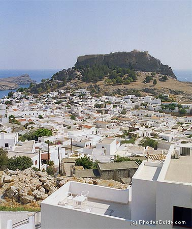 The village of Lindos, Rhodes, Greece