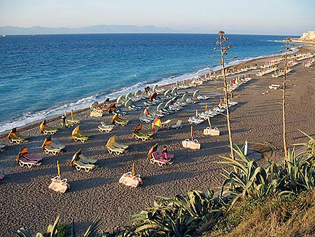 Ixia beach, Rhodes, Greece