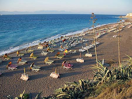 Ixia beach, Rhodes, Greece