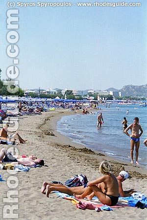 Faliraki Beach, Rhodes, Greece