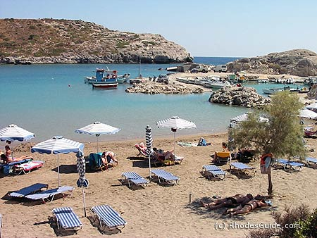 Kolimbia beach, Rhodes Greece
