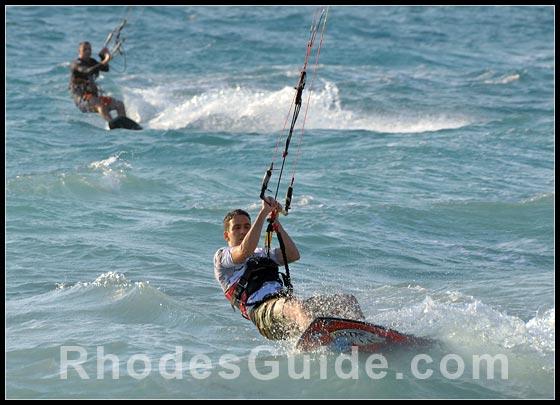 Water sports at Ixia and Ialyssos Bay