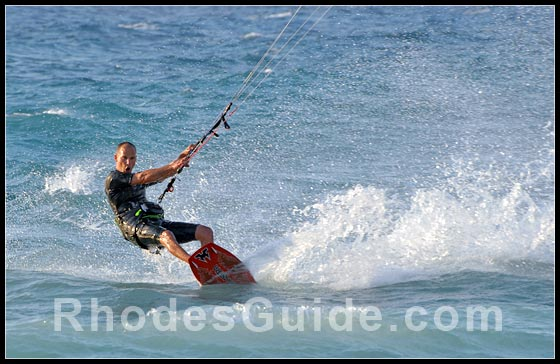 Water sports at Ixia and Ialyssos Bay