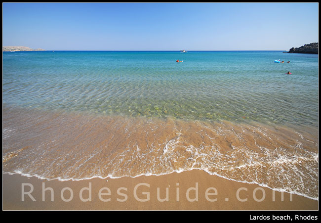 Rhodes Greece photo gallery: Lardos beach, Rhodes