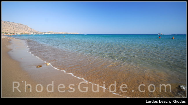 Rhodes Greece photo gallery: Lardos beach