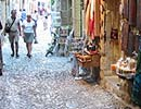 Shopping in the narrow alleys of the old town (Medieval City)