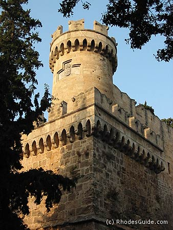 One of the many towers of the castle