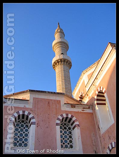 One of the many turkish mosques in the Old Town of Rhodes