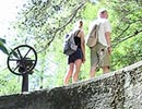 7 Springs (Epta Piges), Rhodes, Greece. The lake dam