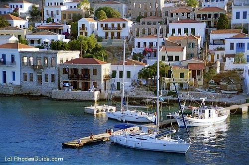 Rhodes Greece photo gallery: Halki, harbour entrance