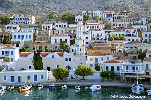 Rhodes Greece photo gallery: Halki, harbour entrance