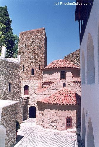 Tilos, the monastery of St. Panteleimon