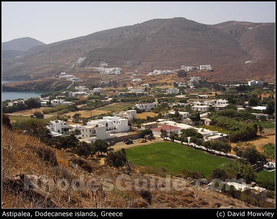 Astipalea, Dodecanese islands, Greece. Village of Livadia.