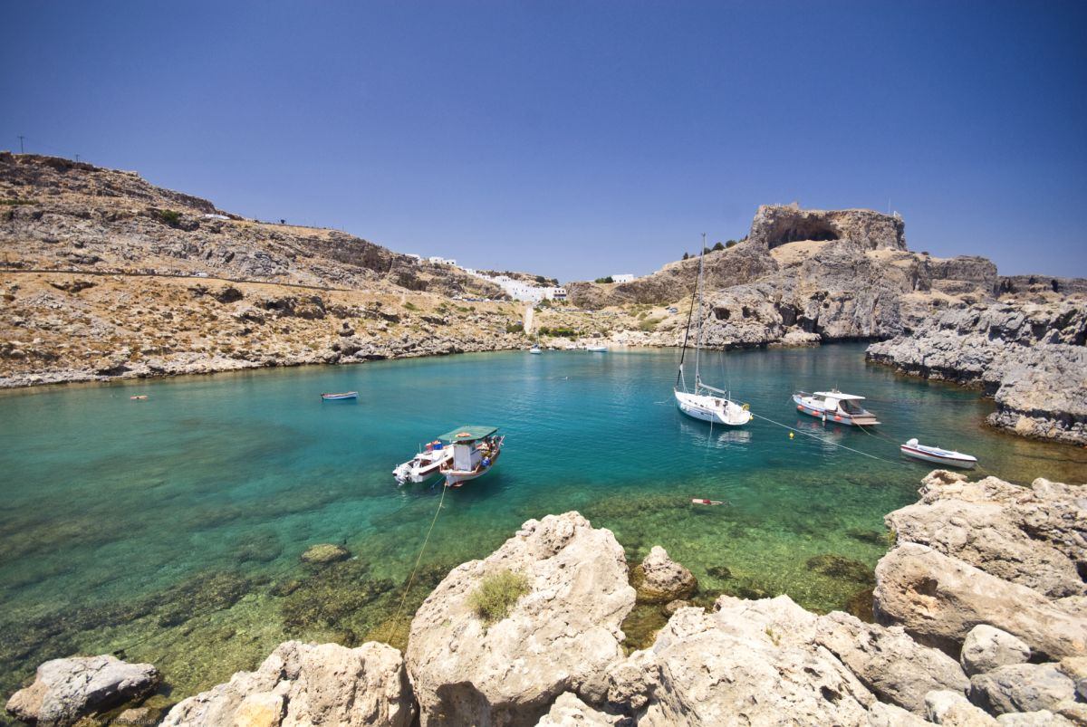 St. Paul's bay (Agios Pavlos) © Rhodes Guide / RhodesGuide.com