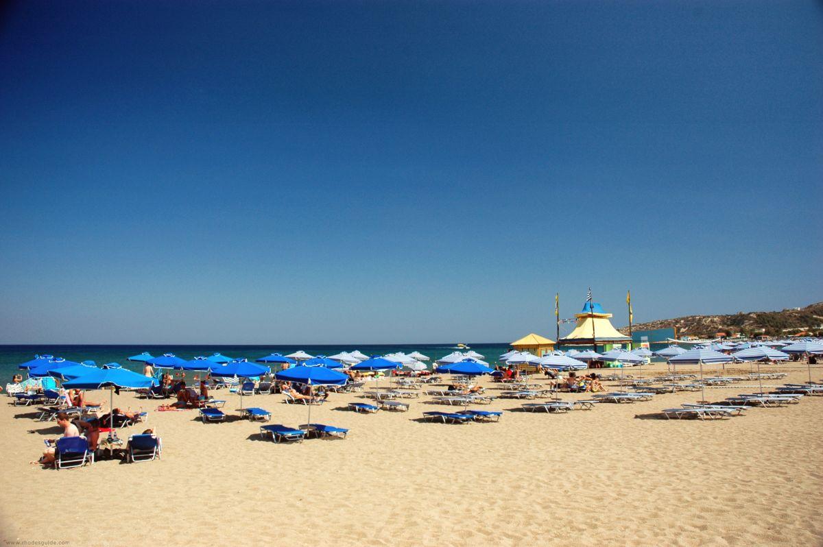 Faliraki Beach © Rhodes Guide / RhodesGuide.com