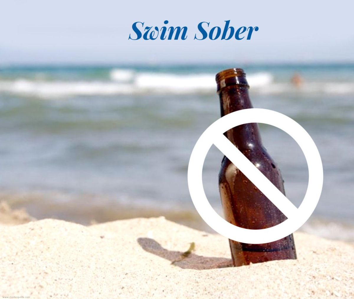 Don't drink and swim! © Rhodes Guide / RhodesGuide.com